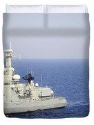 Portuguese Navy Frigate Nrp Bartolomeu Duvet Cover