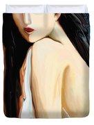 Posing Nude Duvet Cover