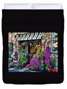 Positano Flower Shop Duvet Cover