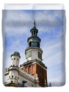 Posnan Poland Clock Tower Duvet Cover