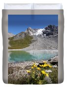 Postcard From Alpes Duvet Cover