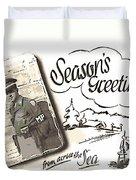 Postcard From War Duvet Cover