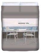 Poster Missing You Duvet Cover