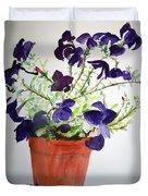 Pot Of Flowers One Duvet Cover