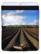 Potato Field, Ireland Duvet Cover