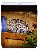 Pottery Still Life Duvet Cover
