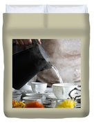 Pouring Hot Water Duvet Cover