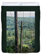 Power Lines  Duvet Cover