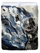 Power Of Prayer With Hasid Reading And Hebrew Letters Rising In A Spiritual Swirl Up To Heaven Duvet Cover