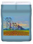 Power Plant Photo Art Duvet Cover