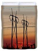 Power Towers At Sundown Duvet Cover