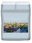 Prague And St Charles Bridge Duvet Cover