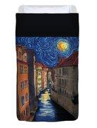 Prague By Moonlight Duvet Cover