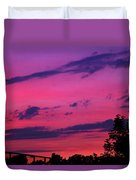 Prague Sunset Duvet Cover