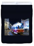 Prague Tram Duvet Cover
