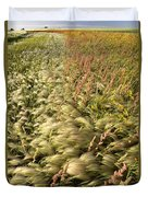 Prairie Crop With Weeds Duvet Cover