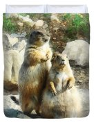 Prairie Dog Formal Portrait Duvet Cover