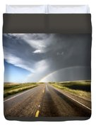 Prairie Hail Storm And Rainbow Duvet Cover