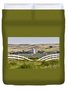 Prairie Town With Elevator Duvet Cover