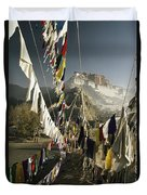 Prayer Flags Hang In The Breeze Duvet Cover
