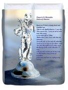 Prayer To St Christopher Duvet Cover