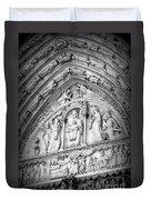 Prayers At Notre Dame - Black And White Duvet Cover
