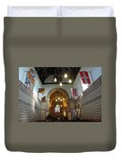 Praying At The St Mary Church Inside Dover Castle In England Duvet Cover
