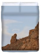 Praying Monk With Halo Camelback Mountain Duvet Cover