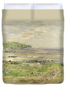 Preaching Of St. Columba Iona Inner Hebridies Duvet Cover by William McTaggart