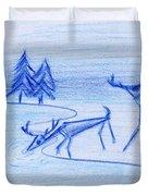 Prehistoric Scenic Duvet Cover