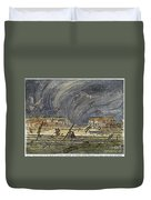 Kansas Cyclone, 1887 Duvet Cover