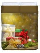 Presents Decorated With Christmas Decoration Duvet Cover