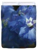 Pretty Blue Delphinia Duvet Cover