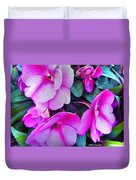 Pretty Pink Flowers Duvet Cover