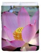 Pretty Pink Lotus Duvet Cover