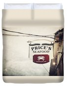 Price's Seafood Duvet Cover