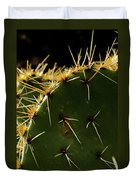 Prickly Pear Dangerous Beauty - Greeting Card Duvet Cover