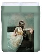 Princess In Gas Mask 2 Duvet Cover