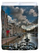 Prinsengracht And Leidsestraat. Amsterdam Duvet Cover