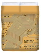 Printed Circuit Duvet Cover by Michal Boubin