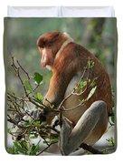 Proboscis Monkey Nasalis Larvatus Male Duvet Cover
