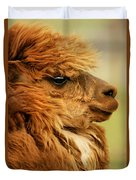 Profile Of A Camelid Duvet Cover