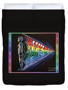 Projection With Rainbow Scroll Border Duvet Cover