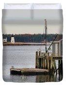 Prospect Harbor Lighthouse Duvet Cover by Jack Schultz