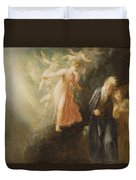 Prospero - Miranda And Ariel  Duvet Cover by Thomas Stothard