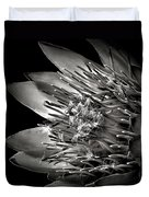 Protea In Black And White Duvet Cover
