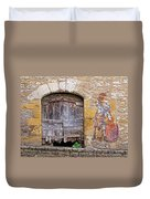 Provence Window And Wall Painting Duvet Cover