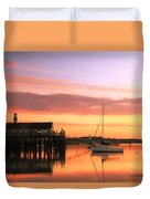 Provincetown Harbor Before Sunrise Duvet Cover
