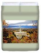 Provo Temple Oak Duvet Cover