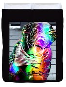 Psychedelic Black Lab With Kerchief Duvet Cover